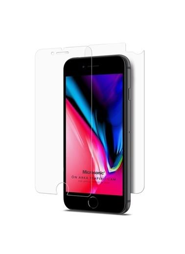 Microsonic Full Body Temperli Cam Ekran Koruyucu iPhone SE 2020 Ön + Arka Renksiz